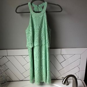 Alya XS Mint Lace Dress